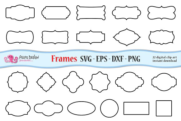 SVG Frames clip art