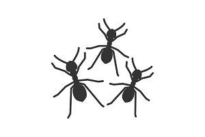Ants glyph icon