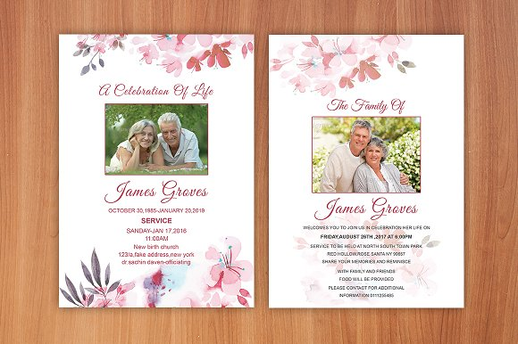 Funeral Invitation or Announcement ~ Invitation Templates ~ Creative ...