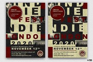 Indie Live Festival Flyer V3