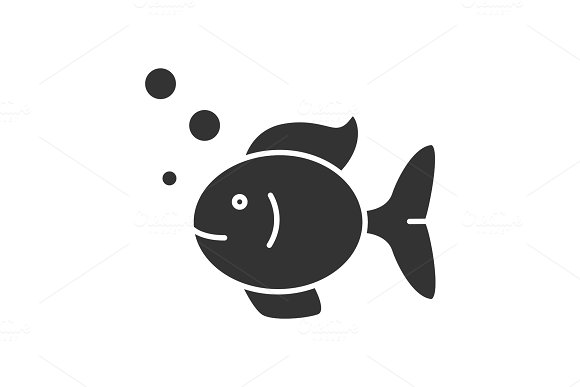 Aquarium Fish Glyph Icon
