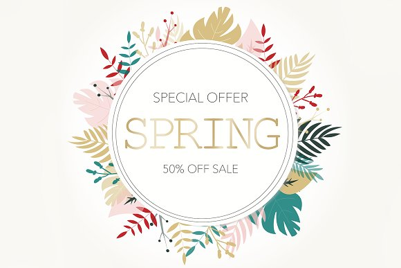 Creative Banner Offering Spring Sale