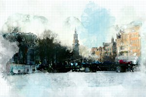 watercolor style - Amsterdam3