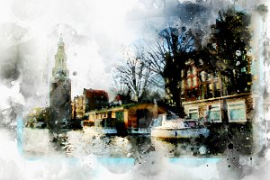 watercolor style - Amsterdam4