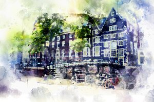 watercolor style - Amsterdam5