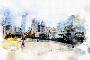 watercolor style - the Hague2