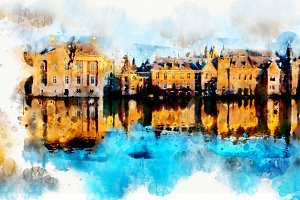 watercolor style - the Hague3