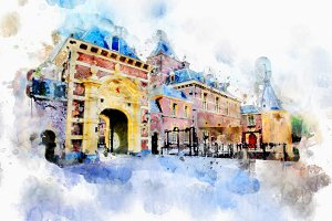 watercolor style - the Hague4