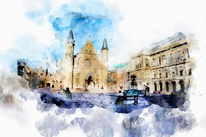 watercolor style - the Hague5