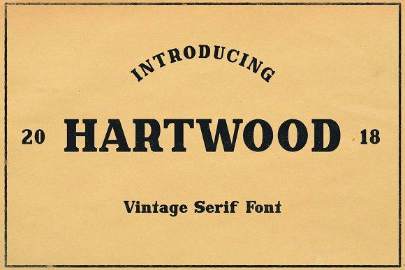Hartwood Vintage Header Font