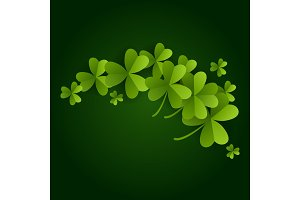 card on St. Patrick's Day. 3d effect clover vector