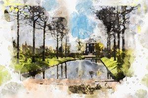 watercolor style - Voorburg2