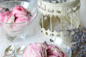 Lavender and Black Currant Ice-Cream