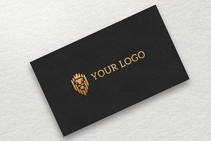 Gold Logo MockUp Ver.3