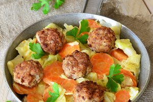 Meatballs with Braised Vegetables