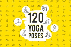 120 yoga poses set