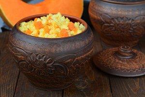 Millet pumpkin porridge