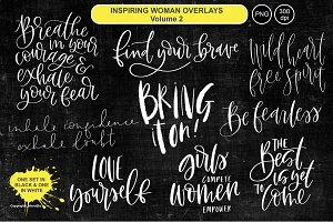 Inspiring Woman Overlays - Vol 2