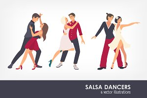 People dancing salsa