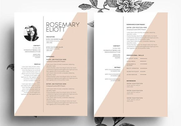 CV Cover Letter Business Card Templates On Creative