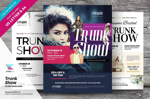 Trunk Show Flyer Templates