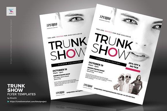 Trunk Show Flyer Templates Flyer Templates Creative Market