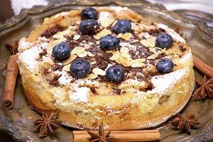 baked round cake