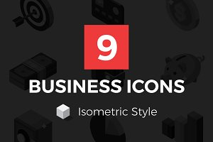 Isometric Icons - Business And Money