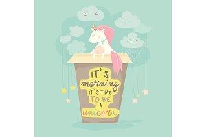 Unicorn needs a coffee, good morning