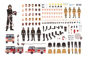 Firefighter creation set,constructor