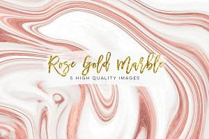Rose gold paper marble