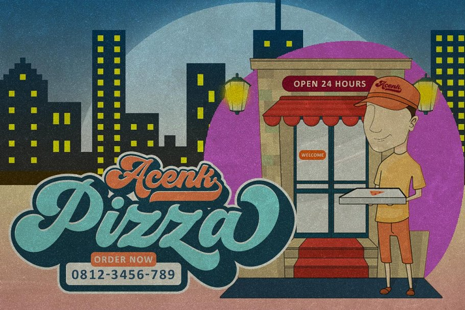 Groovy - Retro Font in Script Fonts - product preview 5