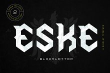 Eske Blackletter by HaffRaff in Blackletter Fonts