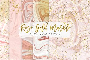 Gold and rose gold marble texture