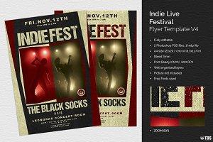 Indie Live Festival Flyer V4