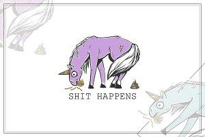 Embarrassed unicorn