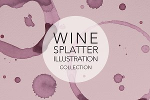 Wine Splatter Illustrations