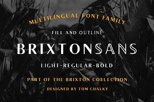 Brixton Sans (6 Fonts + Extras)