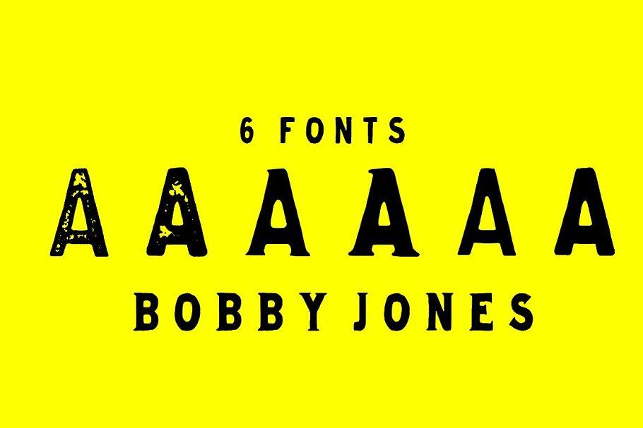 Bobby Jones Font Bundle ~ Display Fonts ~ Creative Market