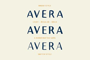 Avera (PLUS Brush & Sketch Styles!)