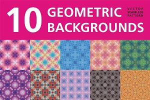 10 Abstract Geometric Backgrounds