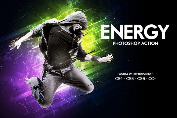 Energy Photoshop Action