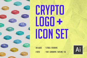 Crypto Logo Icon Set