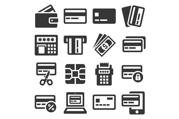 Credit Card Icons Set