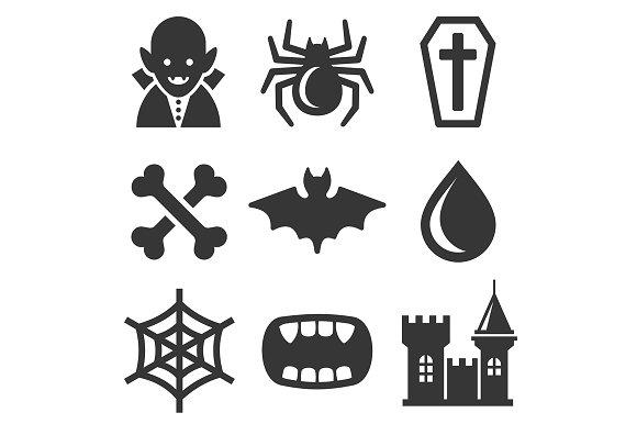 Vampire Icons Set