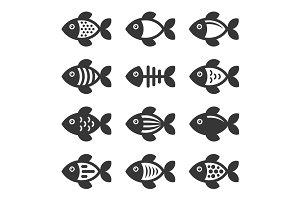 Fish Icons Set