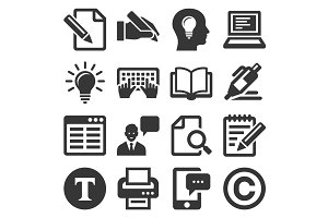 Copywriting Icons Set
