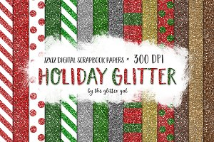 Holiday Glitter Digital Paper