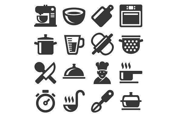 Cooking Icons Set in Graphics