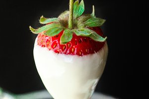White Chocolate Dipped Strawberry